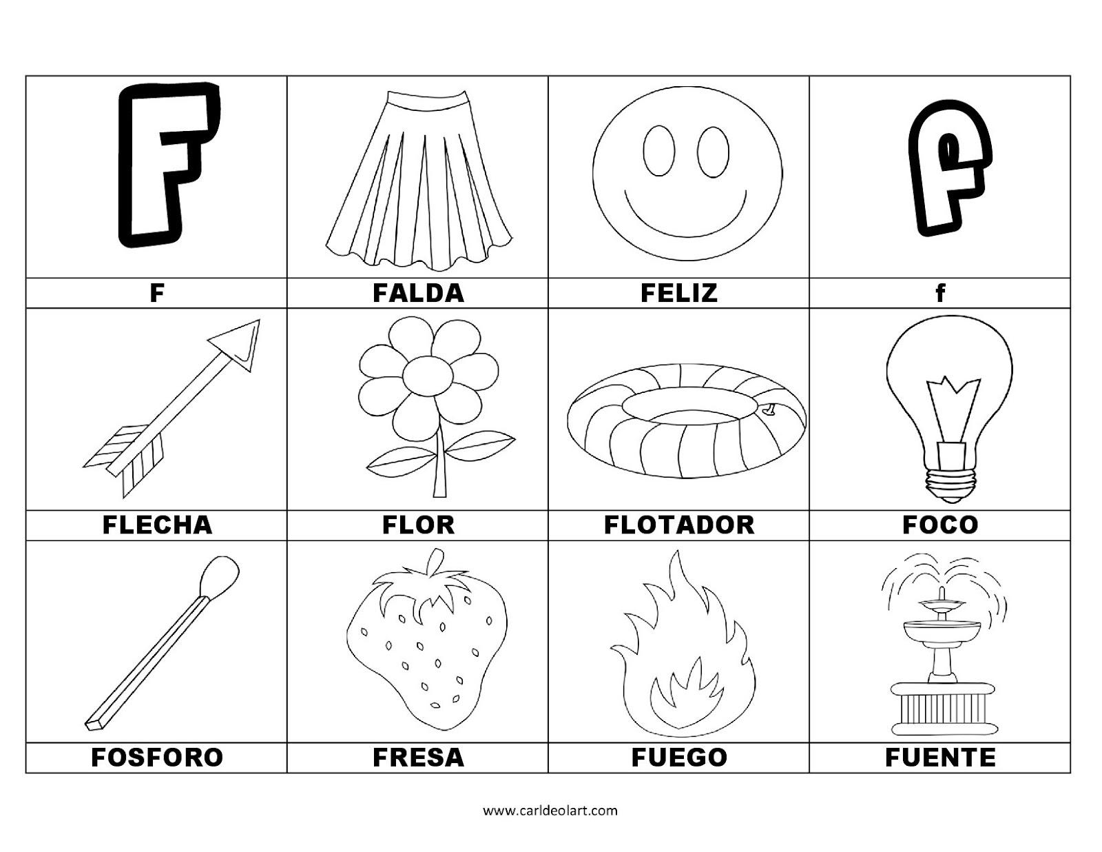 Dibujos Para Colorear Palabras Con F Dibujospacolorearcom