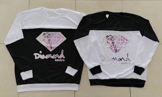 Jual Online Sweater Diamond Blur Murah Jakarta Bahan Babytery Terbaru