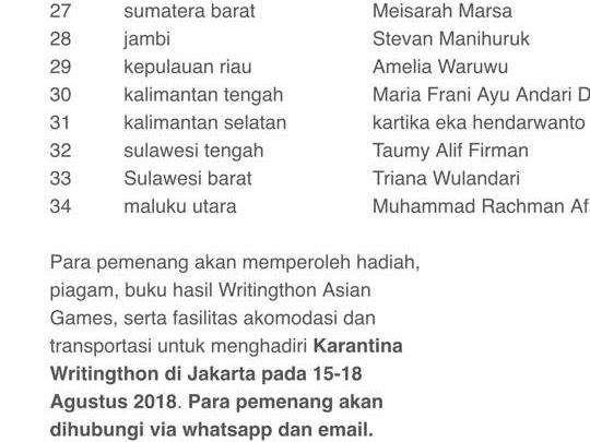 Dukung Asian Games 2018 Lewat Karya Bersama Kominfo dan Bitread