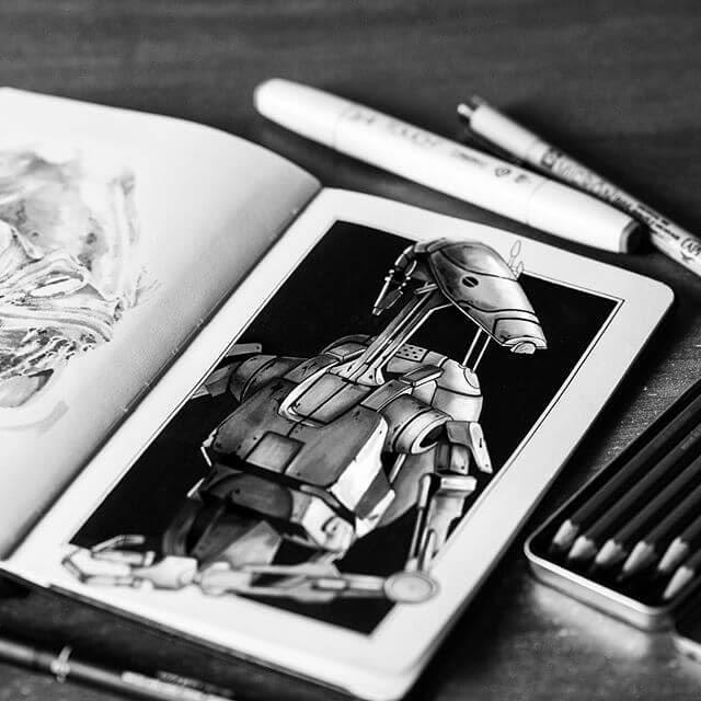 07-B1-Droid-from-Star-Wars-Camilo-Hearso-www-designstack-co
