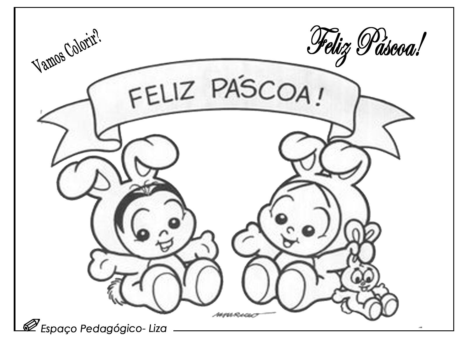 Desenhos De Pascoa Para Colorir Com A Turma Da Monica Espaco
