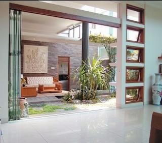 model desain rumah minmalis taman