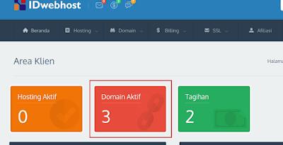 Cara custom domain idwebhost