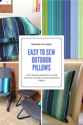 Free Sewing Pattern for Outdoor Pillows using Sunbrella Fabric
