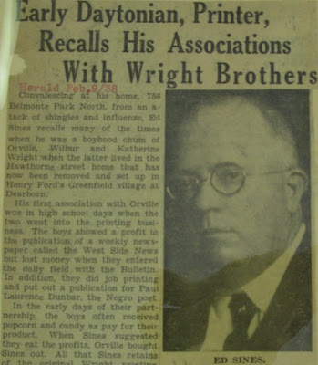 Dayton Montgomery County Library Wright Brother Scrapbook