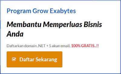Promo Domain .Net Gratis di Exabytes