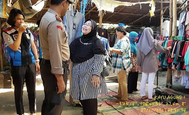 """Polisi """"Gerebek"""" Pasar Kayuagung"""