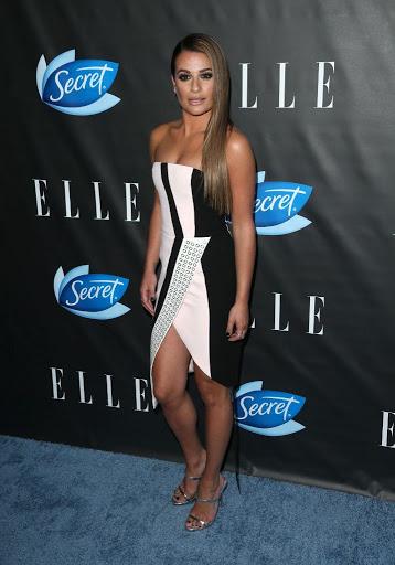 actress lea michele best red carpet dresses photo