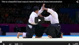 This is a beautiful Suari waza & Hanmi Handachi Waza
