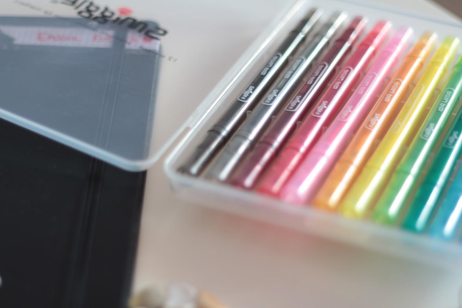 university stationery haul - smiggle felt tips