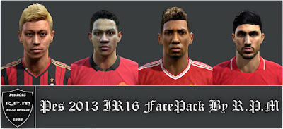 Pes 2013 IR16 Facepack By R.P.M