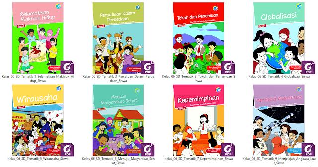Buku Tematik K13 Kelas 6 SD/ MI Untuk Guru dan Siswa