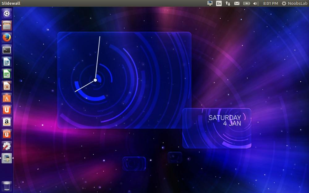 Slidewall Live Wallpaper Application Install In Ubuntu Linux Mint