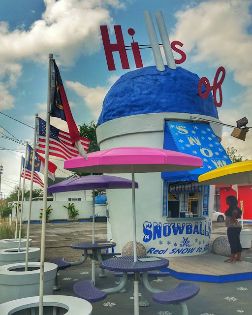Cute, Snowball place off of 301 in Smithfield, N.C.