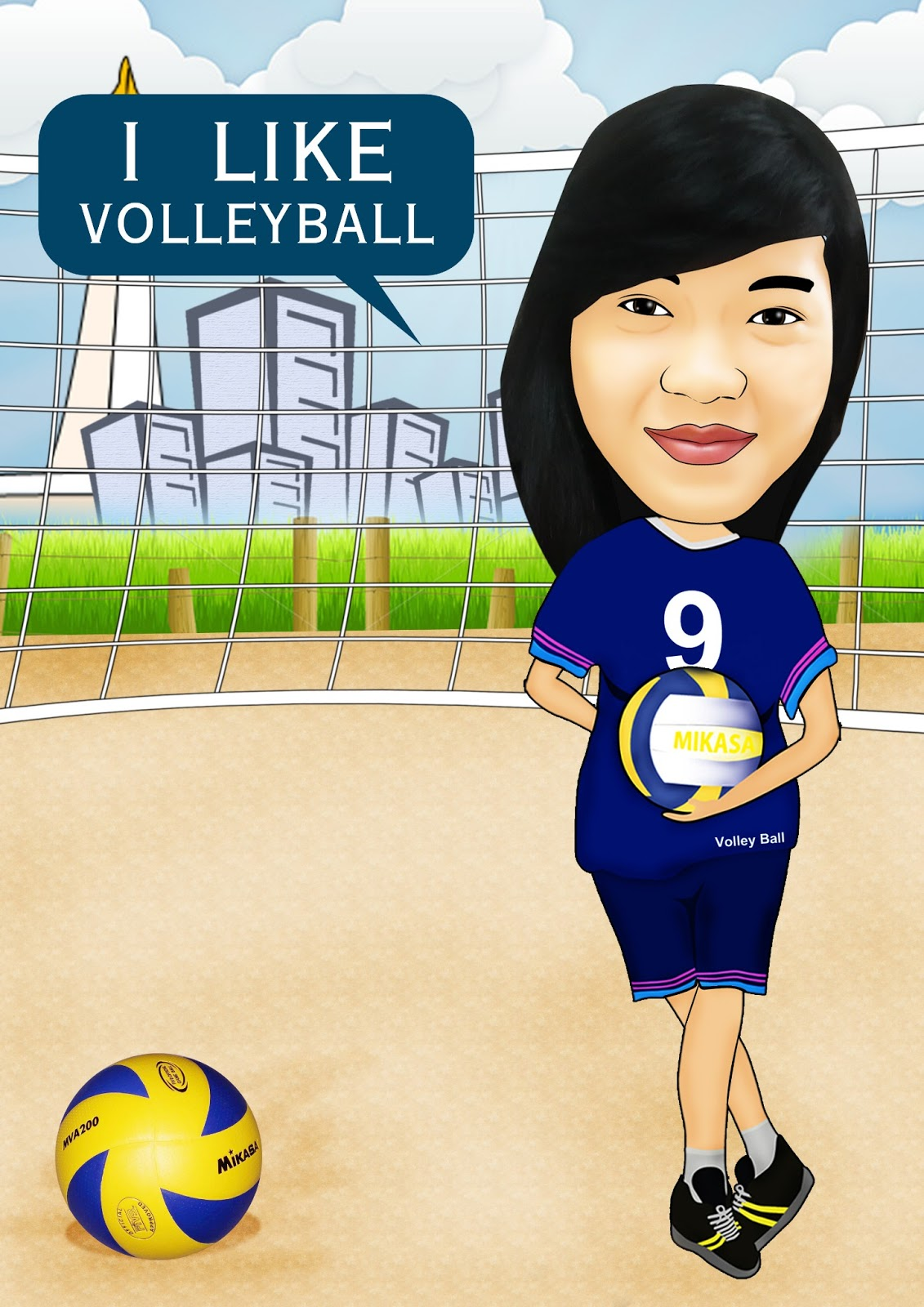 Gambar Kartun Volley Ball