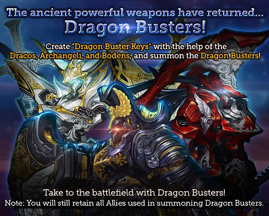 Dragon Blaze Global Version: Patch Notes (23.04.) - First Wave of Busters