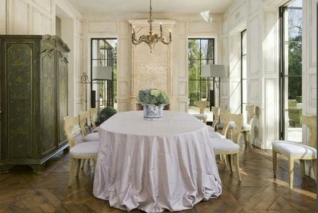 Pam Pierce beautiful dining room French interior design