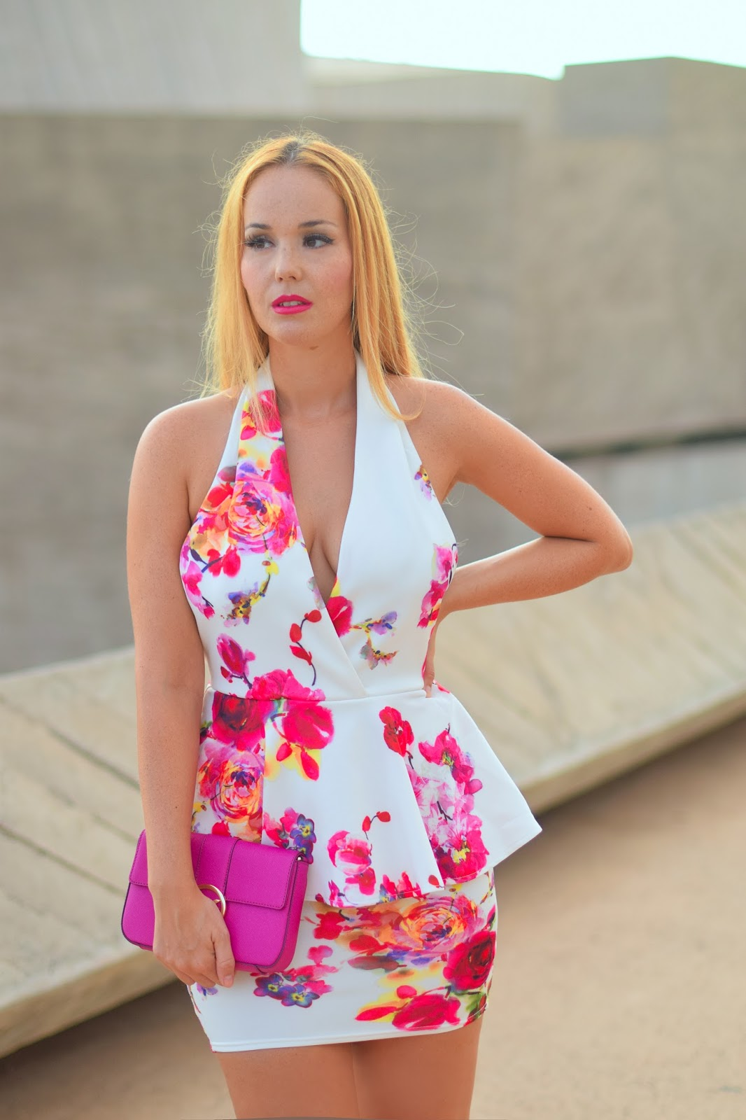 nery hdez, ax paris, floral print,  backless, sexy dress, michael kors