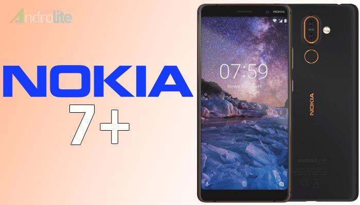 Plus menjadi ponsel Nokia pertama yang mempunyai layar full view  Harga Nokia 7 Plus (7+) - RAM 4GB/6GB, Storage 64GB, Kamera Ganda