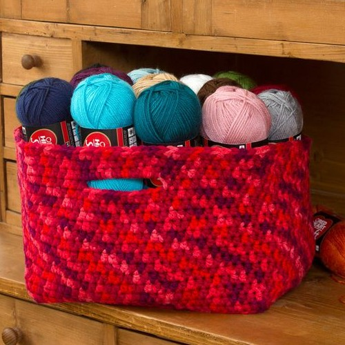 Store Your Stash Basket - Free Pattern