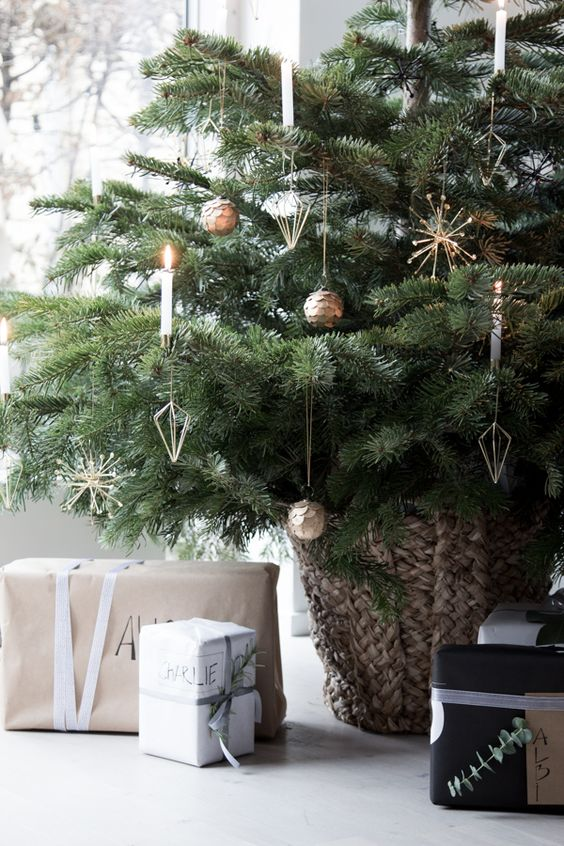 Swedish Farmhouse Christmas Decorating Interior Design