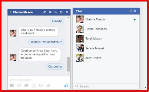 how to chat on facebook
