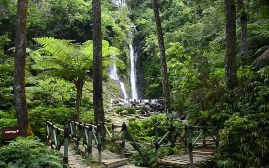 Curug 7 Cilember tempat wisata alam di bogor