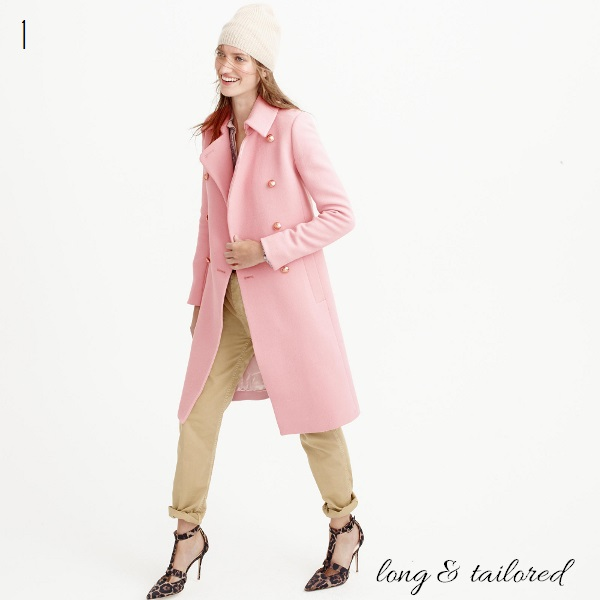 J. Crew double-cloth long peacoat