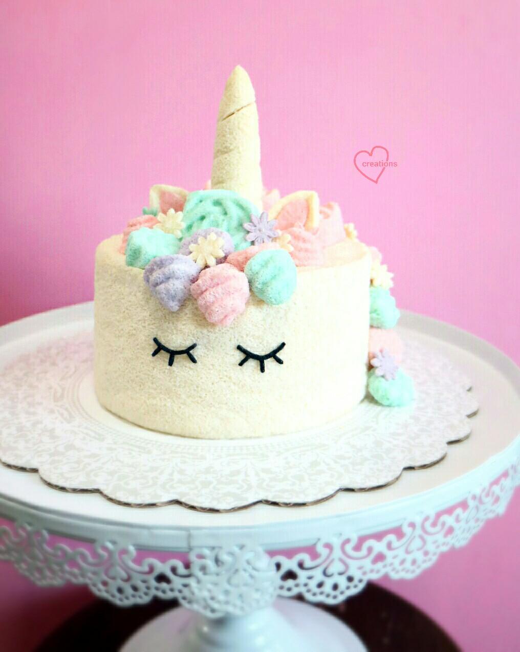 Loving Creations For You Unicorn Soy Milk Chiffon Cake