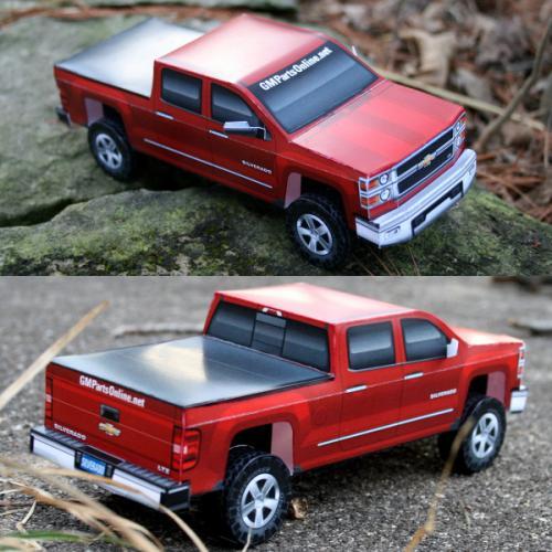 2014 Chevy Silverado Paper Model