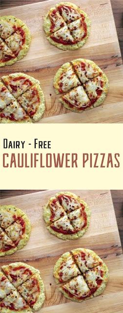 Dairy-Free Cauliflower Pizzas