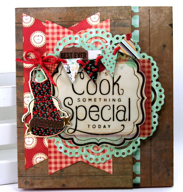 Cook Something Special Folio Cover by Ginny Nemchak using BoBunny Kiss The Cook