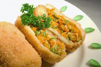 Resep Kroket Isi Ayam dan Sayuran Enak