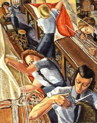Parachute Riggers (1947), Paraskeva Clark