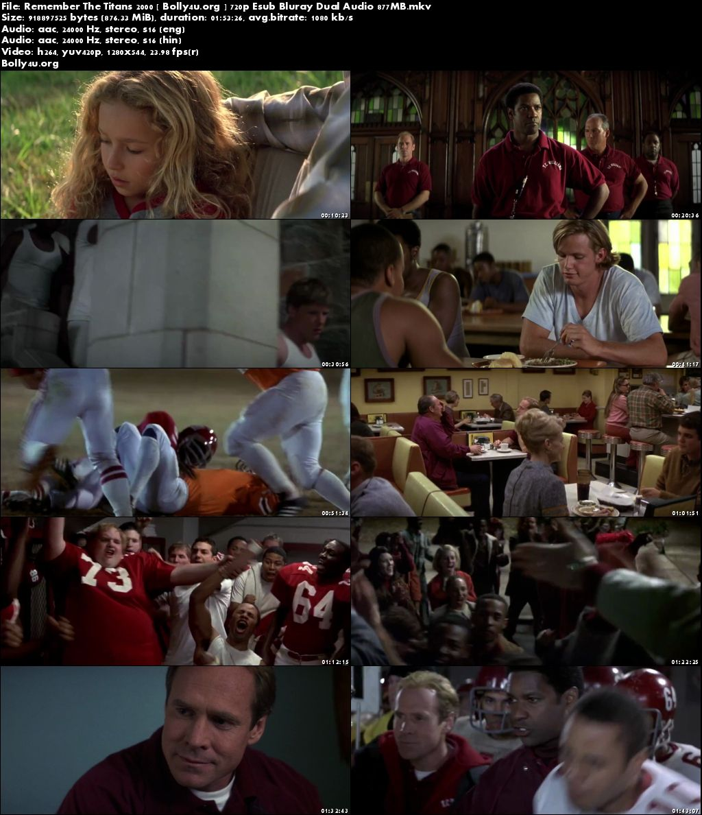 Remember The Titans 2000 BluRay 350MB Hindi Dual Audio 480p Download