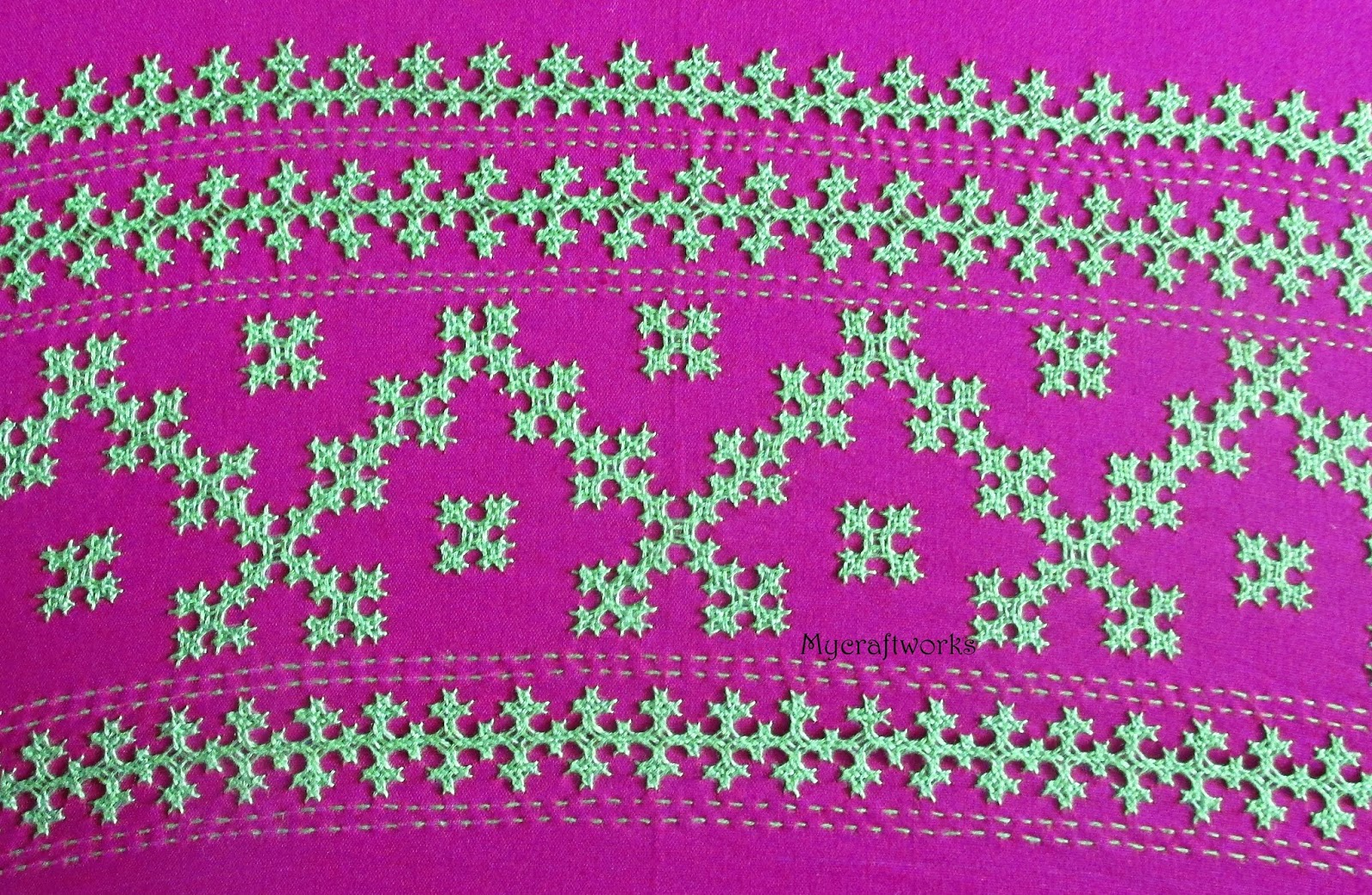 My Craft Works Embroidery Design 7 Kutch Work Border