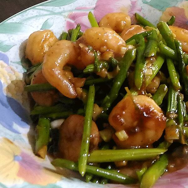 Shrimp Asparagus Freshly Ground Black Pepper
