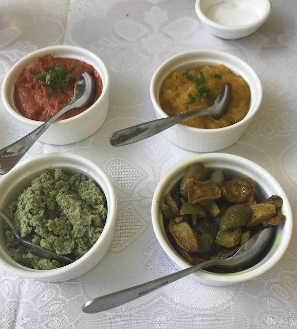 Maison Eureka, Mauritius, side dishes