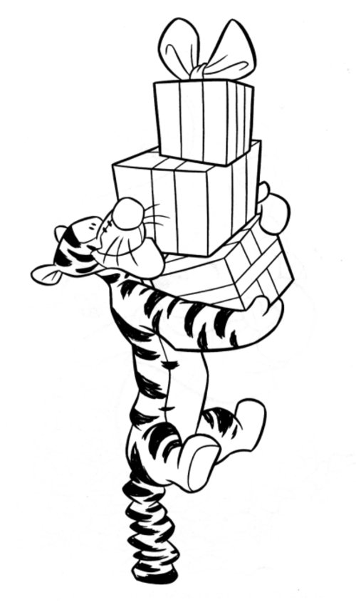 Tigger Coloring Pages Free For Kids >> Disney Coloring Pages