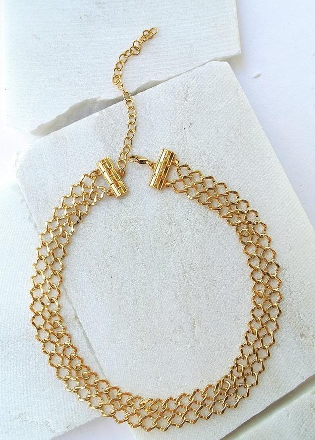 Lili Claspe's Lana Choker in Gold