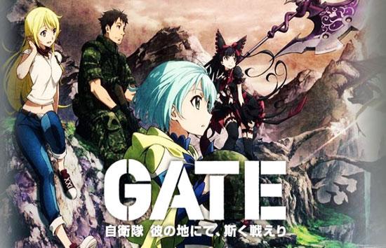 Download Gate: Jieitai Kanochi nite, Kaku Tatakaeri Episode 1 – 12 (End) Subtitle Indonesia
