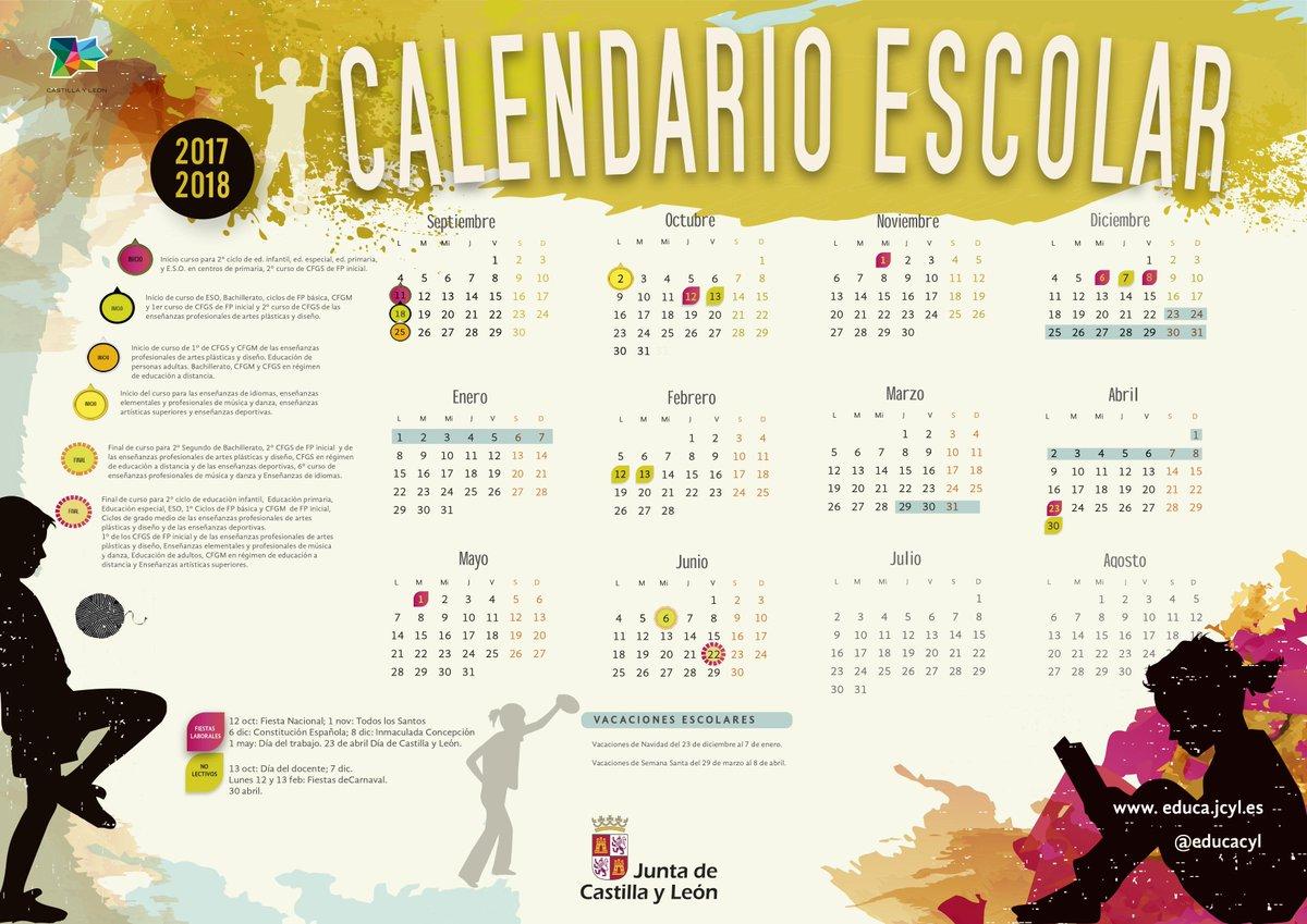 Calendario Educacyl.La Imprenta De Clio Calendario Escolar 2017 2018