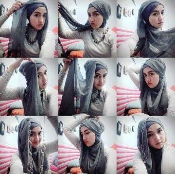 Tutorial Hijab Wisuda yang Syar'i