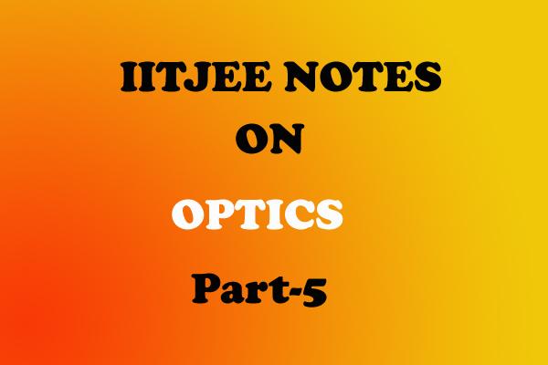 optics questions iitjee