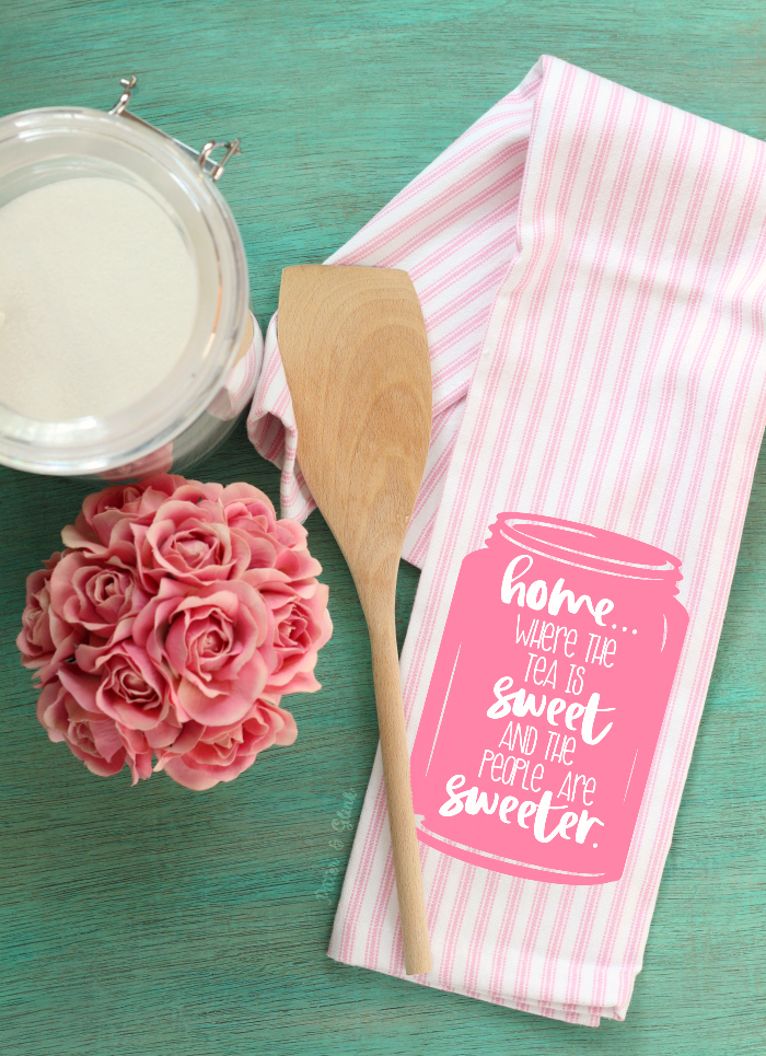 FREE Home Mason Jar Cut File Dish Towel