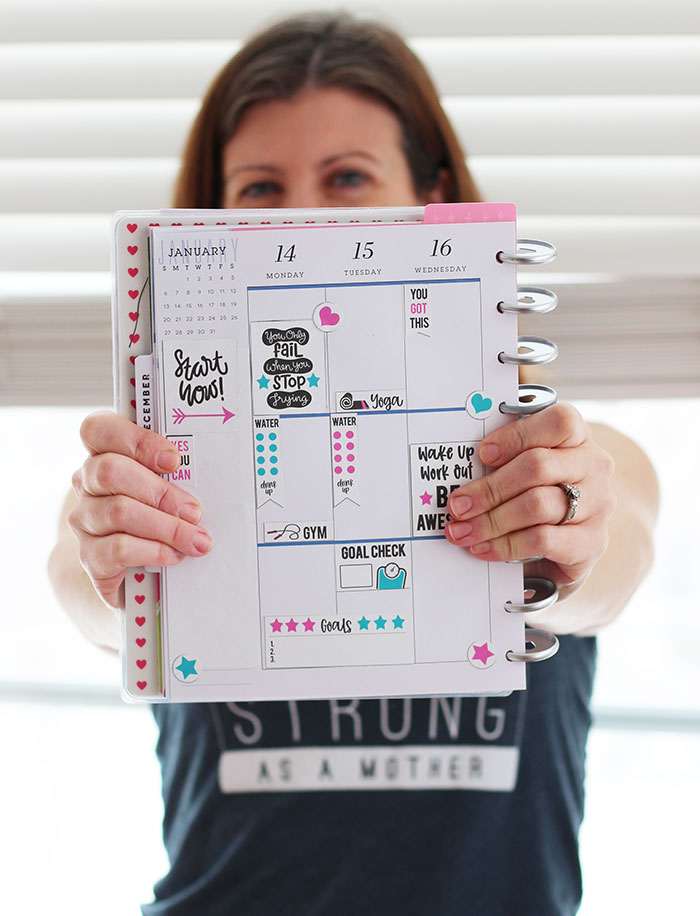 photograph relating to Free Printable Fitness Planner referred to as Rock Your Objectives with a Totally free Physical fitness Planner Stickers