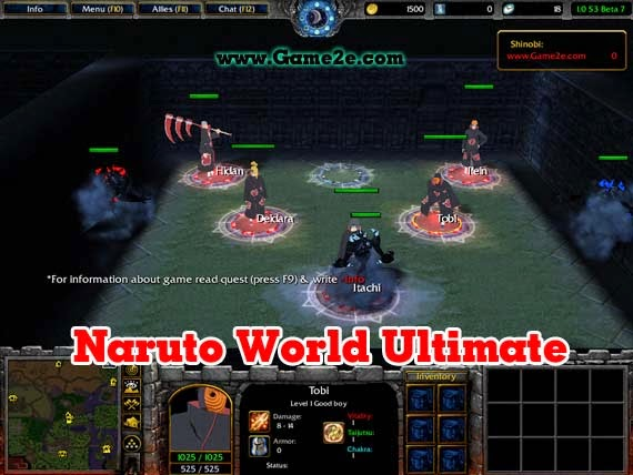 warcraft 3 map naruto vs bleach 1.3b