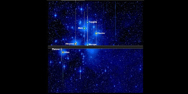 This image from NASA's Kepler spacecraft shows members of the Pleiades star cluster taken during Campaign 4 of the K2 Mission. The cluster stretches across two of the 42 charge-coupled devices (CCDs) that make up Kepler's 95 megapixel camera. The brightest stars in the cluster – Alcyone, Atlas, Electra, Maia, Merope, Taygeta, and Pleione – are visible to the naked eye. Kepler was not designed to look at stars this bright; they cause the camera to saturate, leading to long spikes and other artefacts in the image. Despite this serious image degradation, the new technique has allowed astronomers to carefully measure changes in brightness of these stars as the Kepler telescope observed them for almost three months. Credit: NASA / Aarhus University / T. White.