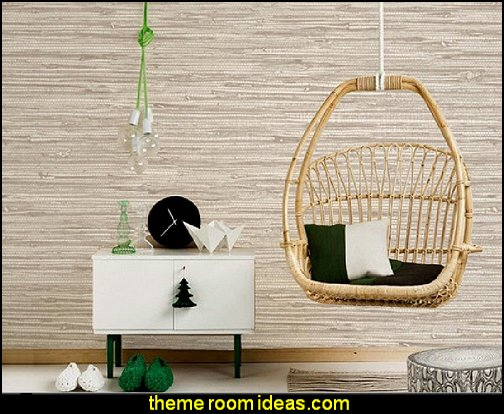 Faux Grasscloth Pattern Wallpaper