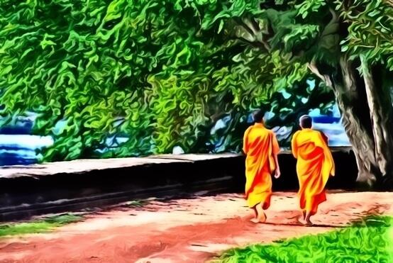 two monks zen story